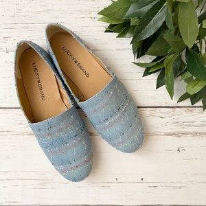 Lucky Brand Brettany Canvas Slip On Shoes NWOT